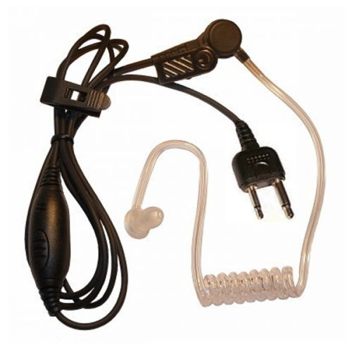 Acoustic Tube Earpiece with Inline MIC and PTT for Alan Handheld Transceivers