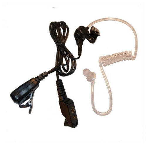 Acoustic Tube Earpiece with Inline MIC and PTT for Icom Handheld Transceivers