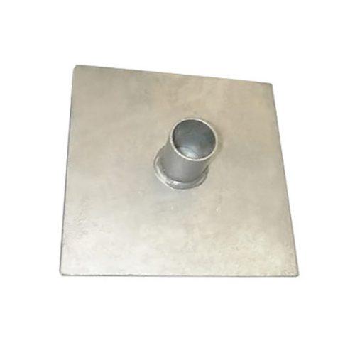 Mast-BB Mast Base Plate 9 x 9 Centre Stub 2″
